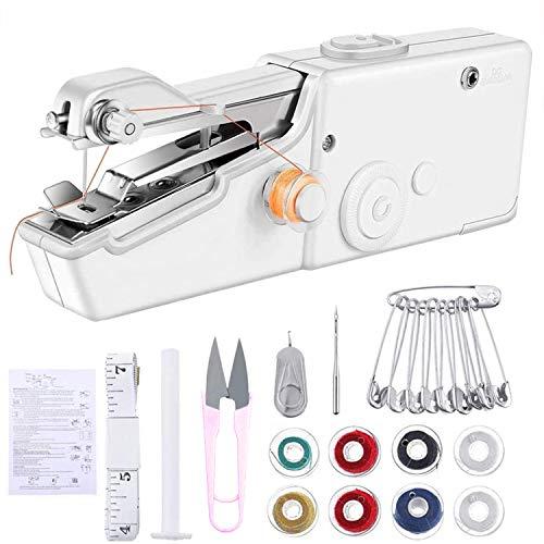 Bynsaer Nähmaschine, Mini Handnähmaschine Tragbare Elektrische Handlicher Anfänger Nähmaschine, Professional Stich Tool für Schnelle Reparatur von Stoff DIY