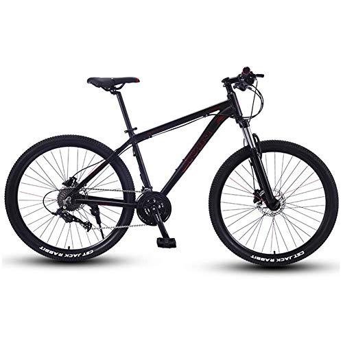 AZYQ Bicicletas de montaña, bicicleta de montaña rígida Big Wheels de 27.5 pulgadas, bicicleta de montaña con cuadro de aluminio Overdrive, bicicleta para hombre y mujer, plateada, 27 velocidades,Oro