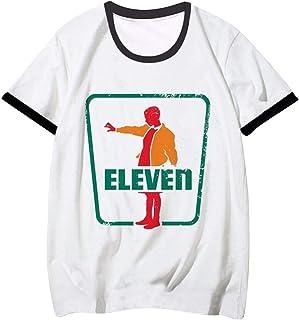 Camiseta Stranger Things Mujer, Ringer T Shirt Retro tee Camiseta Stranger Things Manga Corta Abecedario Impresión T-Shirt...