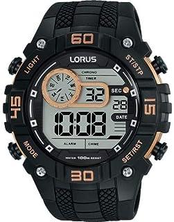 ساعة لوروس رياضية رقمية بسوار سيليكون للرجال R2349LX9