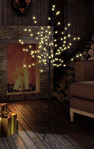 Premium LED-Baum/warm-weiß beleuchtet/verschiedene Größen/Lichterbaum für den Innen- und Außenbereich (120 cm mit 108 LED)