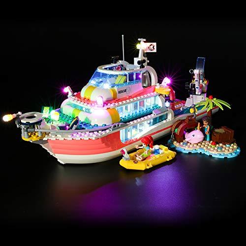 BRIKSMAX Led Beleuchtungsset für Lego Friends Boot für Rettungsaktionen,Kompatibel Mit Lego 41381 Bausteinen Modell - Ohne Lego Set