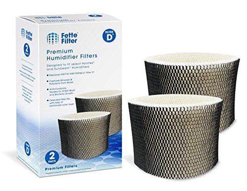 Fette Filter - Humidifier Filter Compatible with Holmes HWF75, HWF75CS, HWF75PDQ-U - Filter D. (Pack of 2)