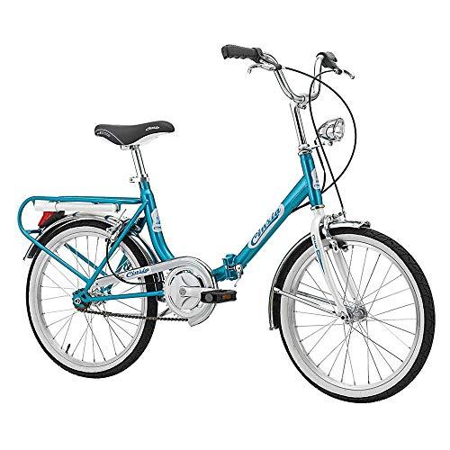 Bicicletta pieghevole 20 Cinzia Firenze in acciaio monocromatico pieghevole blu taglia 38