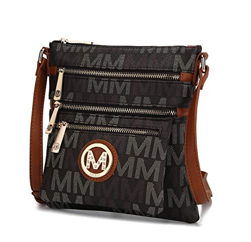 Mala Leather Colecci/ón Ziggy Monedero para Monedas con Anillo de Claves 4153/_99 Negro