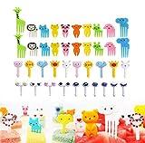 46 Piezas Postre de Fruta Palillo de Dientes Forks, Tenedor de Fruta de Niños de Historieta Linda Animales encantadores Selecciones de Frutas Tenedores para Niños Fiesta Bento Lunch Box