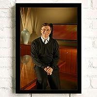 写真 ポスター A3サイズ Bill Gates (1) アートポスター おしゃれ かっこいい 絵画 42cm x 30cm フレームなし (ポスターのみ)