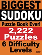 Biggest Sudoku Puzzle Book Ever: 2,222 Sudoku Puzzles - 6 difficulty levels