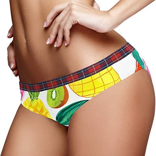 TIZORAX Fruit Watermeloen Mango Kiwi Ananas Vrouwen Ondergoed Bikini Mode Dames Korte Broek