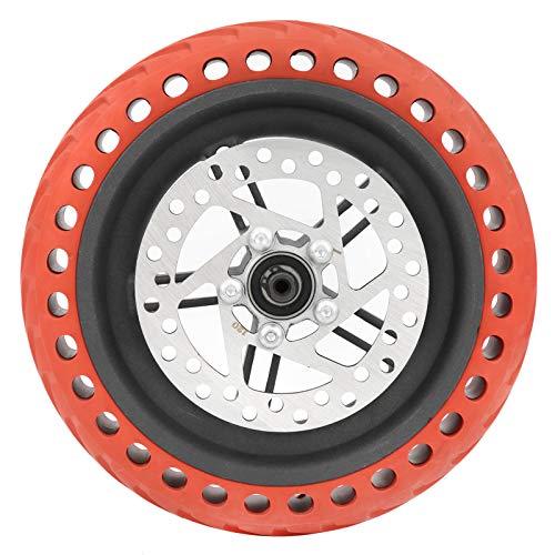 SALUTUYA Rueda Trasera de Ajuste Flexible Función de absorción de Impactos de Freno de Disco fácil de Usar, para X, iaomi M365Pro(Red)