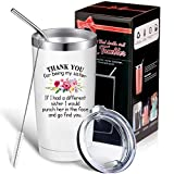 Funny Sister Gift for Little Big Soul Sister, Sister in Law, If I Had A Different Sister I Would Punch Her In The Face And Go Find You Travel Mug, 20 oz Mug Tumbler with Lid Straw Brush and Gift Box