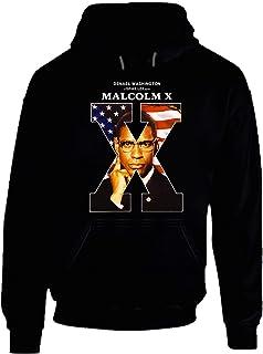 Malcom X 90's Movie Poster Gift Hoodie Black.
