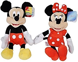 Disney Mickey and Minnie Mouse 9 Bean Plush - by Disney