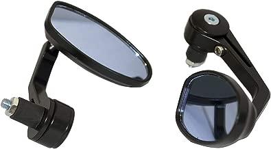 MotorToGo Black Reverse Retro Bar End View Mirrors for 2005 Honda ST1300P Police