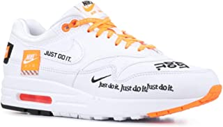 Air Max 1 Lx 'Just Do It' Womens -917691-100 - Size W12 White, Black-Total Orange