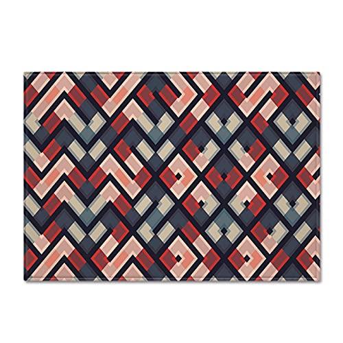 NHhuai Tradicional Alfombra de salón Alfombrillas gráficas Creativas geométricas adecuadas para el Comedor del Dormitorio