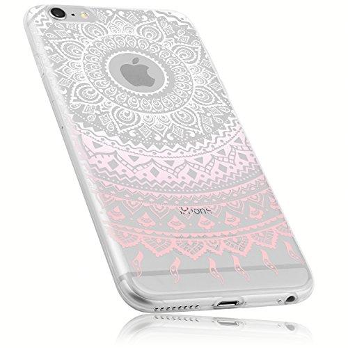 mumbi Funda compatible con iphone 6 Plus/6S Plus, Mandala, rosa claro