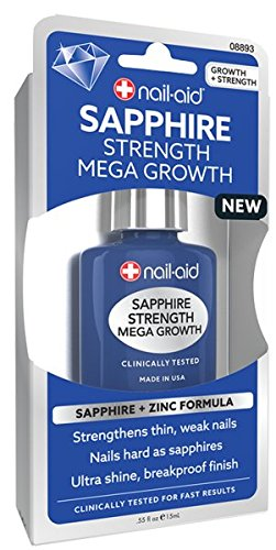 NAIL-AID Sapphire Strength Mega Growth, Clear, 0.55 Fluid Ounce