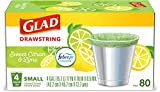 Glad Small Kitchen Drawstring Trash Bags – 4 Gallon Green Trash Bag Febreze , Sweet Citron & Lime, 80 Count (Package May Vary)
