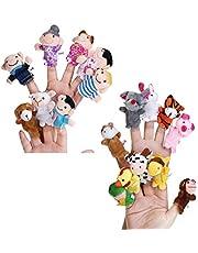 Toddmomy 18-częściowy zestaw lalek zwierzę rodzina ludzie lalka plac zabawka dla dzieci małe dzieci pokazuje czas zabawy do szkoły lalki