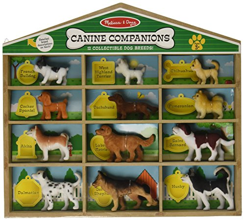 -Melissa&-Doug Canine Companions Pretend Play Figures - 12 Collectible Dog Breeds