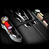 eing Car Seat Side Drop Organizer,Side Slit Car Seat Gap Filler,Car Seat Console Storage Organizer,Bling Car Seat Pockets with Cup Holder and 2 Charging Port,2PC/1Pair (Multicolor Diamonds)