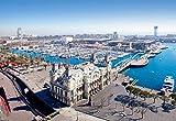VVNASD Puzzle 1000 Piezas Puerto De Barcelona Marina Bricolaje Regalo Animal Puzzle Clásico 3D Puzzle De Madera Decoración De Juguete