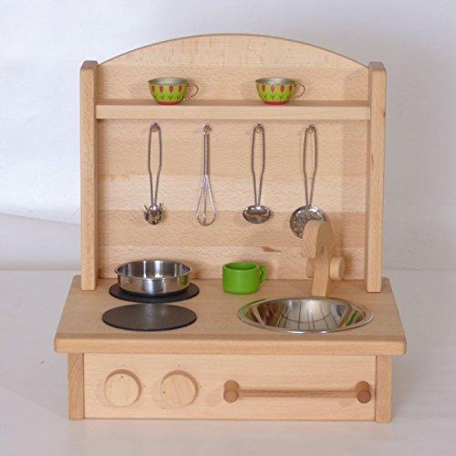 Kinderherd Zwerg 2012G Massivholz - Kinder-Tischküche - Spielständer-Küche … - 4