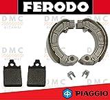 KIT PASTIGLIE PASTICCHE + GANASCE FRENO FERODO PIAGGIO VESPA PX 125-150 - 200 FDB2100 - FSB874