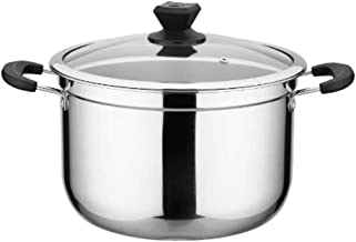 DIAOD Stainless Steel Soup Pot Steamer Household Large Capacity Cooker Milk Pot Induction Cooker Gas Stove Use Pot Kitchen...