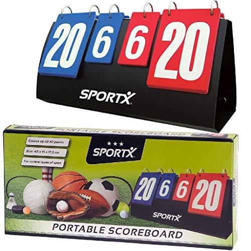 AK Sport Scorebord Anzeigetafel Sportx Score-Board – Blau/Rot, zutreffend
