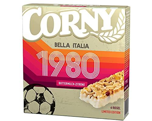 Corny Limited Edition - EM 1980 Bella Italia Buttermilch-Zitrone, Müsliriegel, 10er Pack (10 x 138g Schachtel)