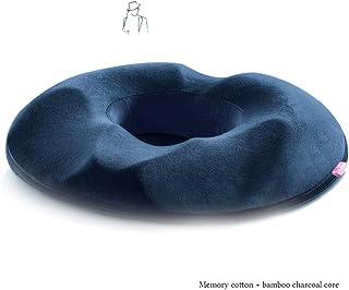 Ortopédico Donut asiento cojín de espuma de memoria almohada con bambú carbón núcleo firme asiento amortiguador para hemorroides, alivio de la próstata, dolor de embarazo, úlceras por presión ,manA