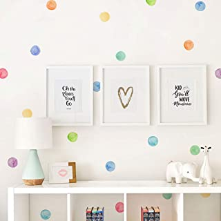 Simple Shapes Watercolor Dots Wall Stickers - Rainbow by Simple Shapes