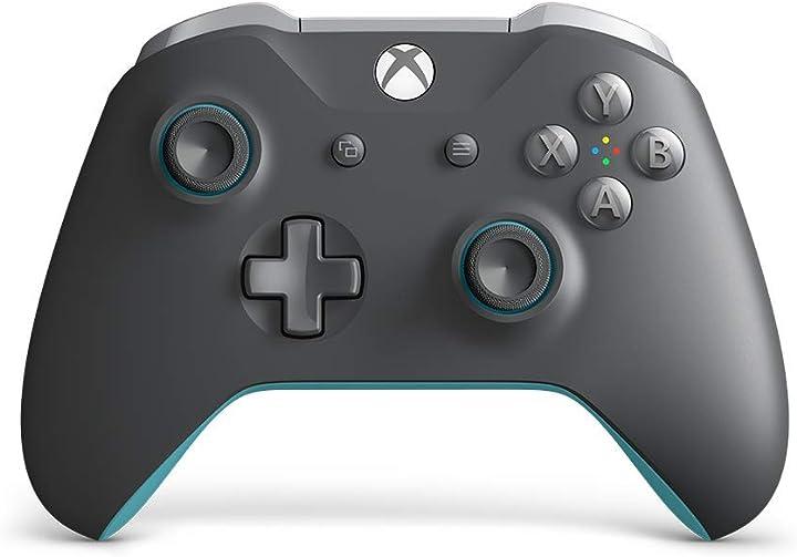 microsoft controller xbox one controller wireless, edizione speciale grigio-azzurro wl3-00106