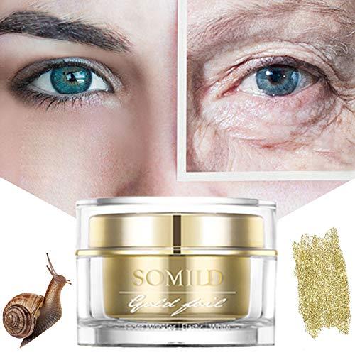 Allouli Goldfolie Schneckencreme Feuchtigkeitscreme Anti-Falten Anti-Aging Glatte Feine Linien Straffende Augengesichtshaut