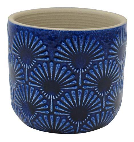 Danish planter Handmade planter Vase planter blue Unique pattern planter Farmhouse style vase Gift for her Home decor Polka dot planter