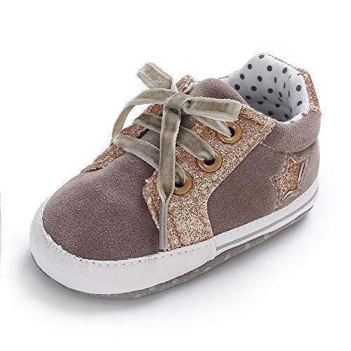 Geagodelia - Nuevo zapato de cuna para bebé con suela antideslizante para recién nacido 0 – 18 m gris 13