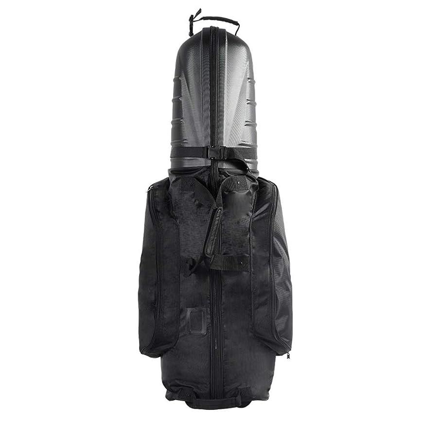 注釈父方の固有のゴルフ トラベルカバー ハードトップゴルフクラブの旅カバー折り畳み式のゴルフバッグポータブルゴルフ旅行バッグブラック キャディバッグ ゴルフバッグ カバー (Color : Black, Size : 128X30x35cm)