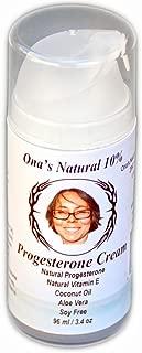 ONA'S Natural Concentrated 10% Progesterone Cream - 3.4 Oz. Pump