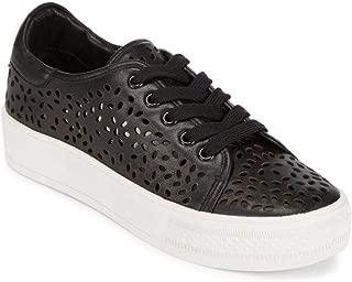 Alice + Olivia Pemton Leather Sneakers, Black (37.5 = 7.5)