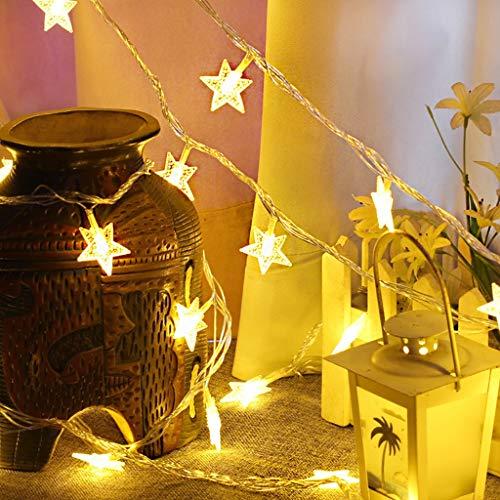 Luccase 40LED Lichterkette Fünfzackigen Stern Lichterkette 5 Mt Weihnachtsfeier Party Hochzeit Weihnachtsdekor Lichter für Verschiedene Anlässe