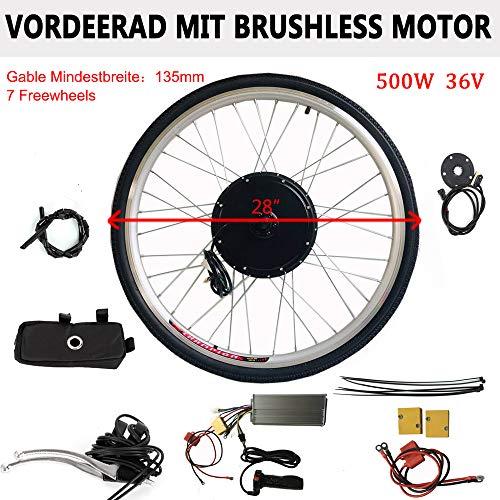 WUPYI2018 - Kit di conversione per bici elettrica, 36 V, 800 W, 28 pollici, per bicicletta elettrica, kit di conversione ruota posteriore con motore posteriore
