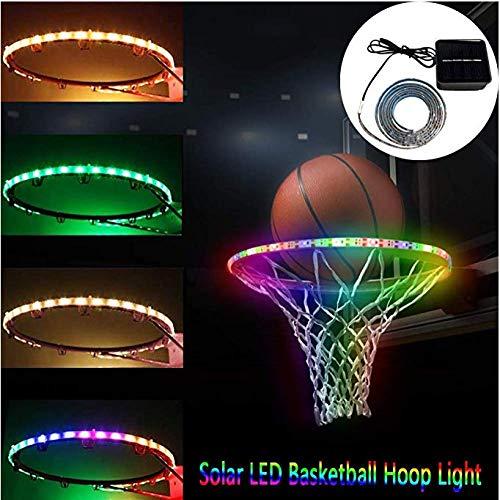 Sweetlibra Solar Led Basketballkorb Licht Wasserdichte Basketball Rahmen Licht Led Basketball Felge Wasserdichte Leuchtende Licht Solar - Leuchten Basketballkorb,7 Farben Immer Hell