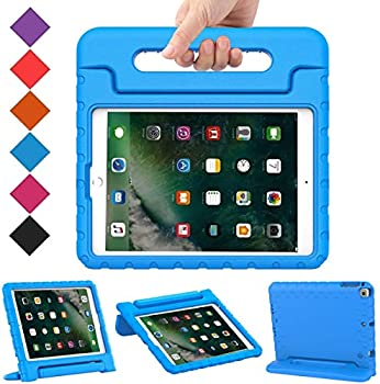 BMOUO Kids Case for iPad 9.7 Inch 2018/2017,iPad Air 2 - Shockproof Case Light Weight Kids Case Cover Handle Stand Case for iPad 9.7 Inch 2017/2018  iPad 5th and 6th Generation ,iPad Air 2 - Blue