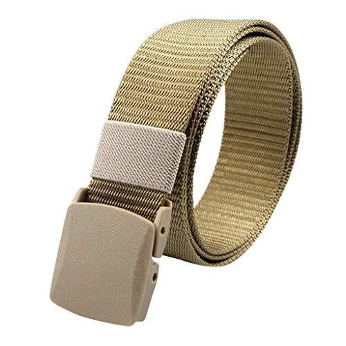 Skxinn Reise versteckt Geld Tasche Nylon Gürtel Anti-Theft Wallet Nicht-Metallschnalle Gürtel für Damen & Herren(Gold)