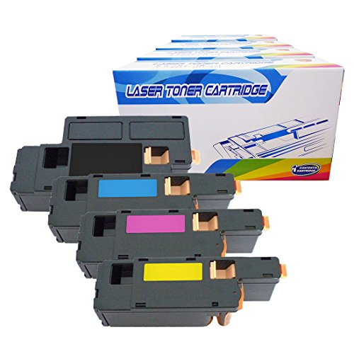 Inktoneram Compatible Toner Cartridges Replacement for Dell C1660w 332-0399 332-0400 332-0401 332-0402 High Yield ([Black,Cyan,Magenta,Yellow], 4-Pack)
