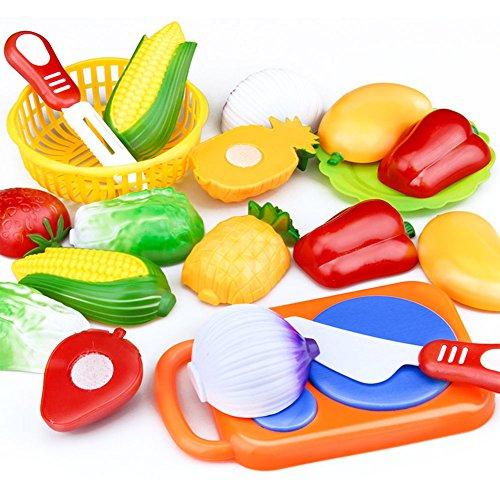 Metermall Home 12-delige kinderen Snijden Fruit Groenten Set Puzzel Fantasiespel Speelgoed als cadeau