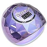 Lámpara de uñas, secador de uñas de 86 W, secador de esmalte de uñas LED UV, secador de esmalte de uñas, con 4 temporizadores (10 s, 30 s, 60 s, 99 s), adecuado para el hogar y el salón, violeta