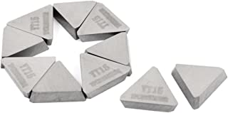 Aexit 10 Pcs Router Bits YT15 Triangle Hard Alloy Cemented Carbide Inserts Edge Treatment & Grooving Bits Cutter Tip